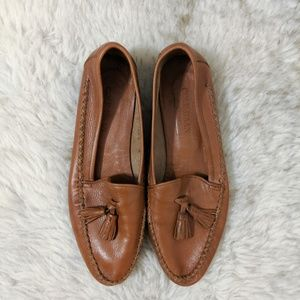 Vintage Cole Haan Leather Tassel Loafers Cognac